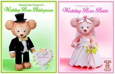 Свадебные фигурки: пара медвежат-молодоженов