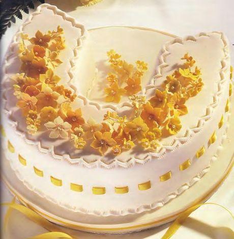 Свадебный торт: Подкова на счастье