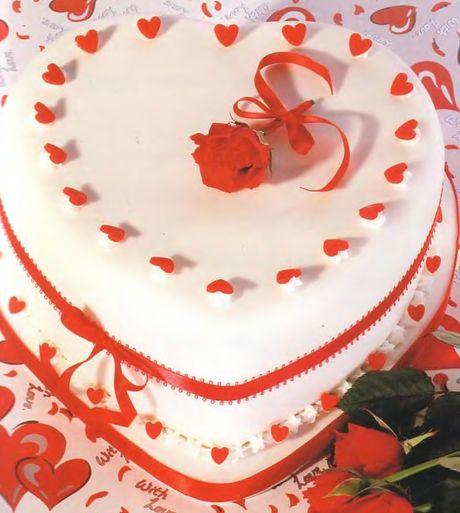Свадебный торт: Нежное сердце